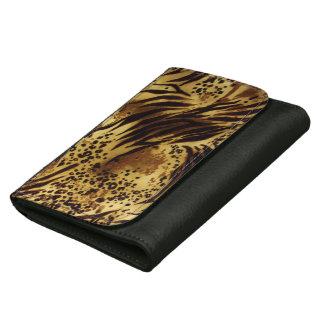 Tiger Stripes Safari Print Leather Wallet
