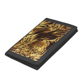 Tiger Stripes Safari Print Trifold Nylon Wallet
