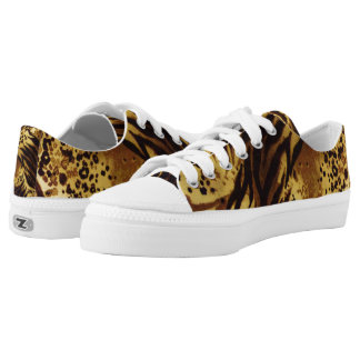 Tiger Stripes Safari Print, Zipz Low Top Shoes