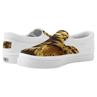 Tiger Stripes Safari Print, Zipz Slip On Shoes