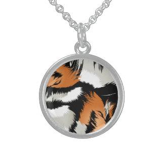Tiger stripes sterling silver necklace