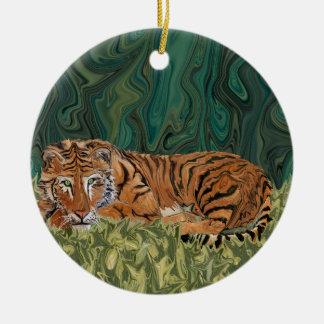 Tiger Sunday Serendipity Round Ceramic Decoration