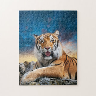 Tiger Sunset Puzzle