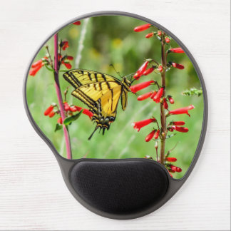 Tiger Swallowtail Butterfly and Wildflowers Gel Mouse Pad