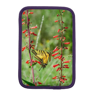 Tiger Swallowtail Butterfly and Wildflowers iPad Mini Sleeve