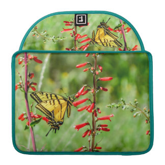 Tiger Swallowtail Butterfly and Wildflowers Sleeve For MacBook Pro