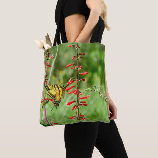 Tiger Swallowtail Butterfly and Wildflowers Tote Bag