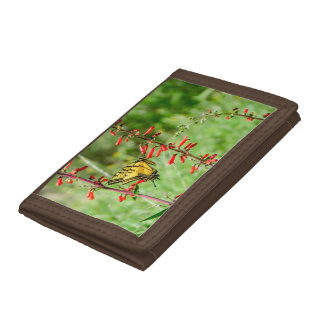Tiger Swallowtail Butterfly and Wildflowers Tri-fold Wallet