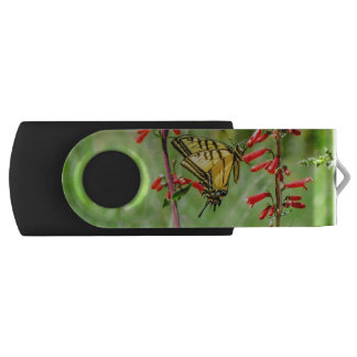Tiger Swallowtail Butterfly and Wildflowers USB Flash Drive