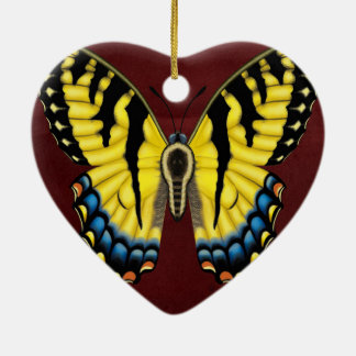Tiger Swallowtail Butterfly Ceramic Ornament