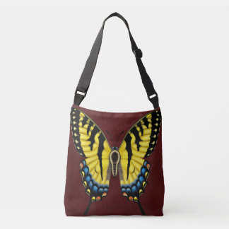 Tiger Swallowtail Butterfly Crossbody Bag