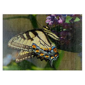 Tiger Swallowtail Butterfly Glass Cutting Board