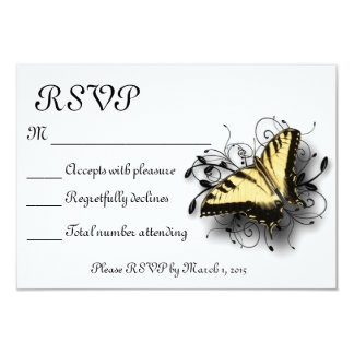 Tiger Swallowtail Butterfly 9 Cm X 13 Cm Invitation Card