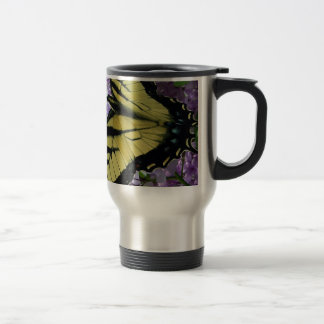 Tiger swallowtail butterfly lilac photo coffee mug
