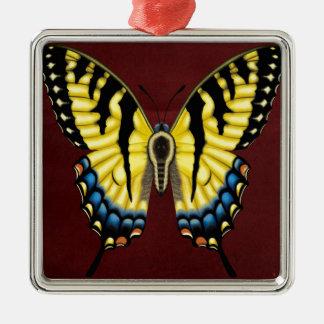 Tiger Swallowtail Butterfly Metal Ornament