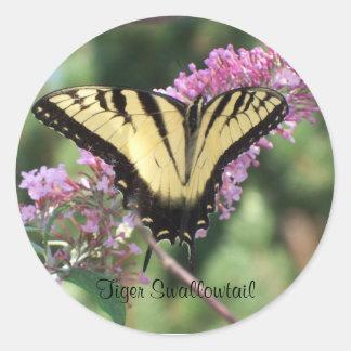 Tiger Swallowtail Classic Round Sticker