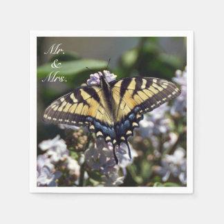 Tiger Swallowtail Mr. & Mrs. Paper Napkin