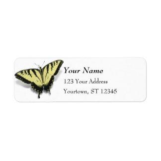 Tiger Swallowtail Return Address Label