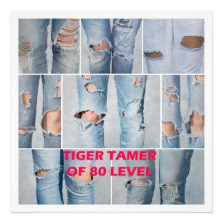 Tiger tamer of 80 level art photo