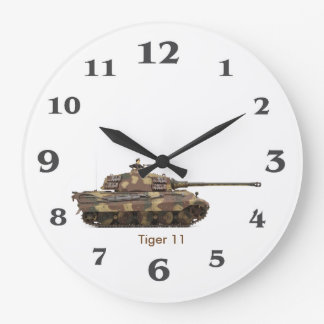 Tiger Tank image for Round (Large) Wall Clock