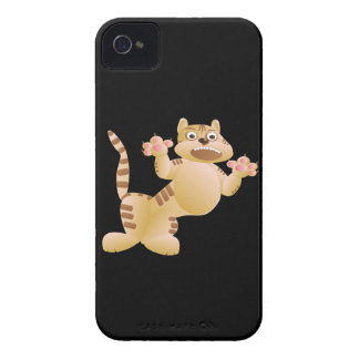 Tiger, the cat growls and threatens paws claws iPhone 4 Case-Mate case