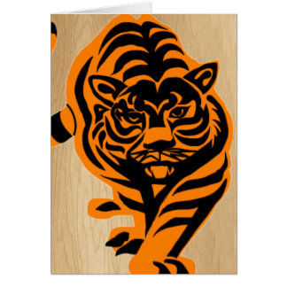 TIGER THE KING OF JUNGLE GREETING CARD