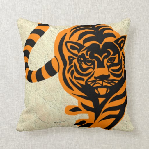 TIGER THE KING OF JUNGLE THROW PILLOWS