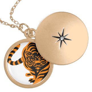TIGER THE KING OF JUNGLE GOLD PLATED NECKLACE