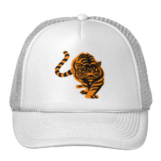 TIGER THE KING OF JUNGLE TRUCKER HAT