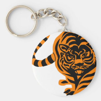 TIGER THE KING OF JUNGLE BASIC ROUND BUTTON KEY RING