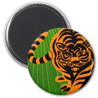 TIGER THE KING OF JUNGLE 6 CM ROUND MAGNET