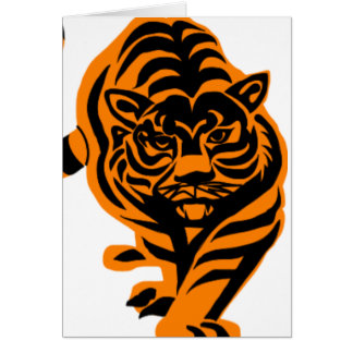 TIGER THE KING OF JUNGLE NOTE CARD