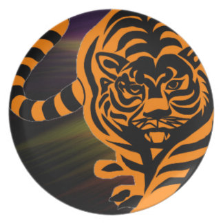 TIGER THE KING OF JUNGLE PLATES