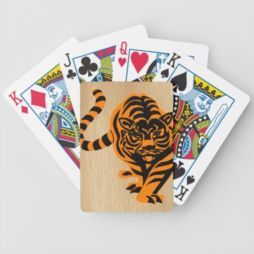 TIGER THE KING OF JUNGLE BICYCLE POKER DECK