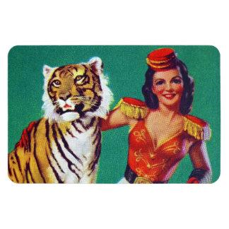 Tiger Trainer Pin-Up Girl Vinyl Magnets
