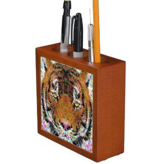 Tiger Triangle Mandala Desk Organiser