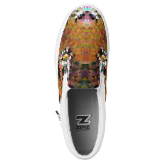 Tiger Triangle Mandala Slip-On Shoes