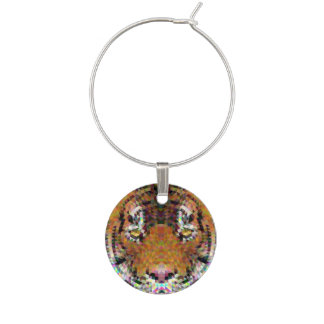Tiger Triangle Mandala Wine Charm