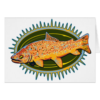 Tiger Trout greeting card