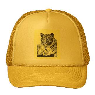 Tiger Trucker Hat in Yellow
