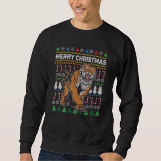 Tiger Ugly Christmas Sweater Wildlife Series