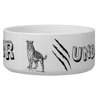 Tiger Undercover Pet Bowl by SGD Design