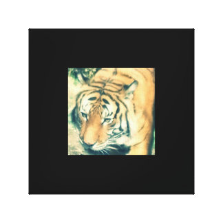 Tiger Up Close Canvas Stretched Canvas Print