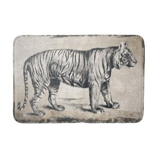 Tiger Vintage Wildlife Grunge Decorative Bath Mat