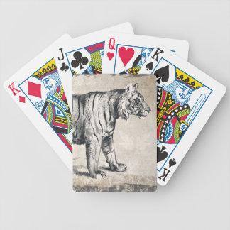 Tiger Vintage Wildlife Grunge Decorative Bicycle Playing Cards