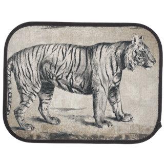 Tiger Vintage Wildlife Grunge Decorative Car Mat