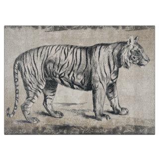 Tiger Vintage Wildlife Grunge Decorative Cutting Board