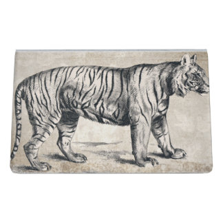 Tiger Vintage Wildlife Grunge Decorative Desk Business Card Holder