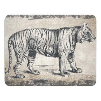 Tiger Vintage Wildlife Grunge Decorative Door Sign