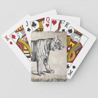Tiger Vintage Wildlife Grunge Decorative Playing Cards